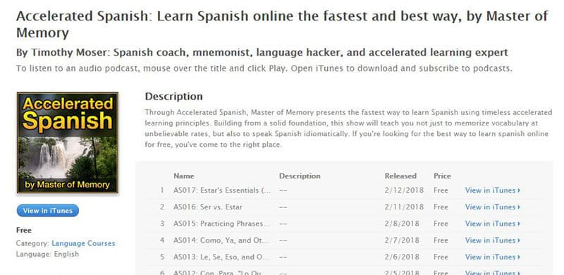 Spanish Podcast Accelerated Spanish