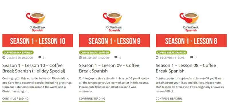 spanish podcast Coffee Break Spanish Radio Lingua