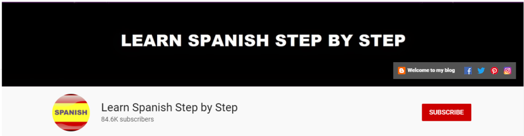 spanish youtube channel learn spanish step by step