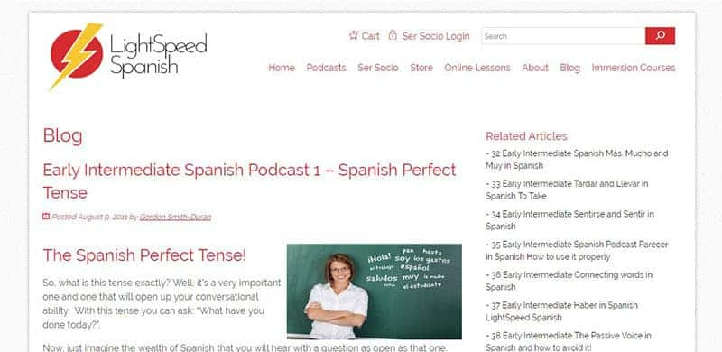 Spanish Podcast Lightspeed Spanish