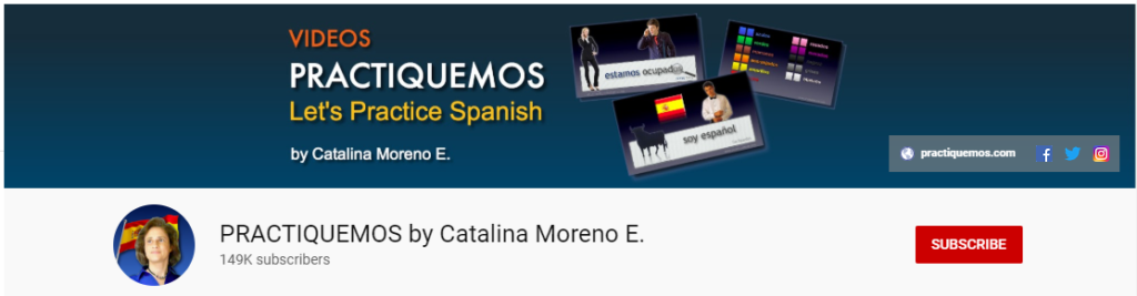 spanish youtube channel practiquemos by catalina moreno e