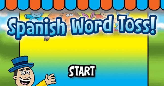 spanish game word toss