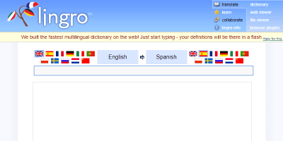 learn spanish dictionary online dictionary lingro