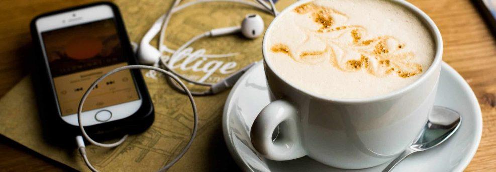spanish songs coffee headphones